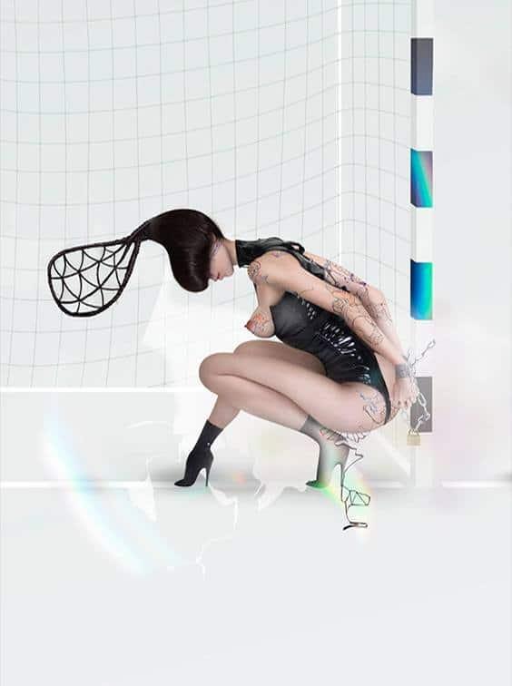 Photo by MI-ZO for Helmut Newton exhibit