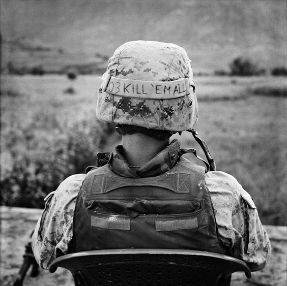 Photo by Stephen Dupont for War/Photography exhibit