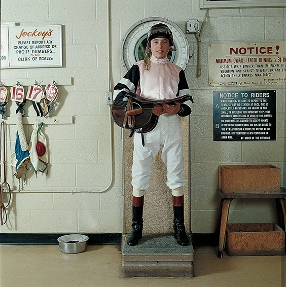 Queens, NY, 1978  Although 17-year-old Steve Cauthen only weighed 105 lbs., including saddle, helmet, boots and silks, he was as tough a competitor and athlete as any heavyweight champion I have ever photographed. I took this picture at Aqueduct Race Track in New York in 1978. Cauthen went on to win the Triple Crown that year.