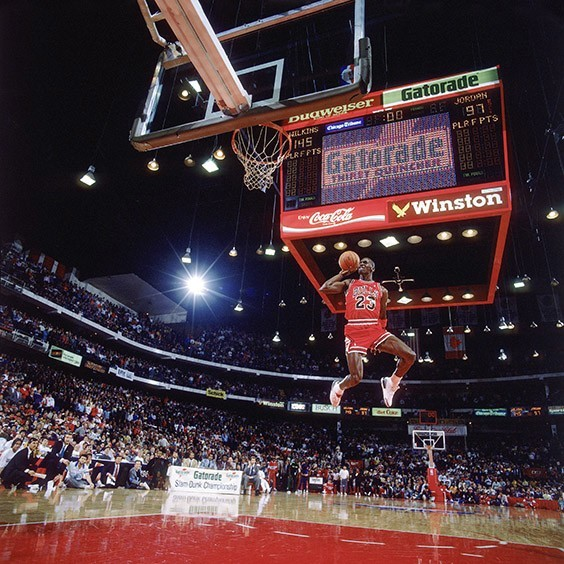 Michael Jordan, Slam Dunk Contest - Chicago, IL, 1998