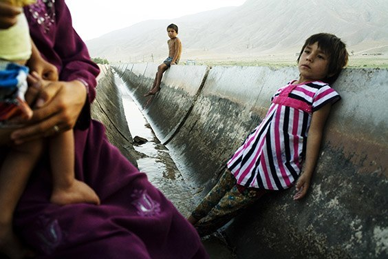 In the Tajik village of Akjar, the irrigation canal is the only source of water. Plumbing shut down after the Soviet Union collapsed, so the village relies on dirty water for survival.