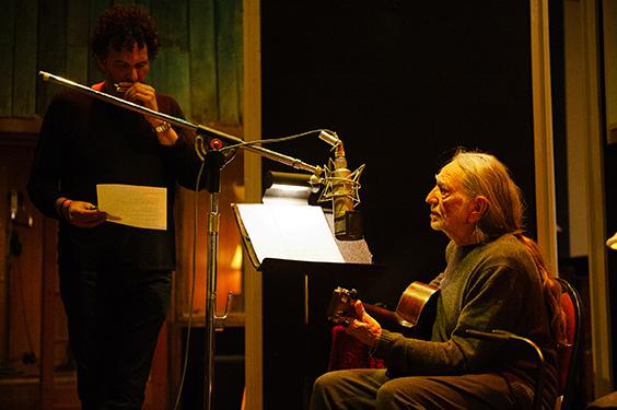 Willie Nelson, Nashville recording studio, 2011