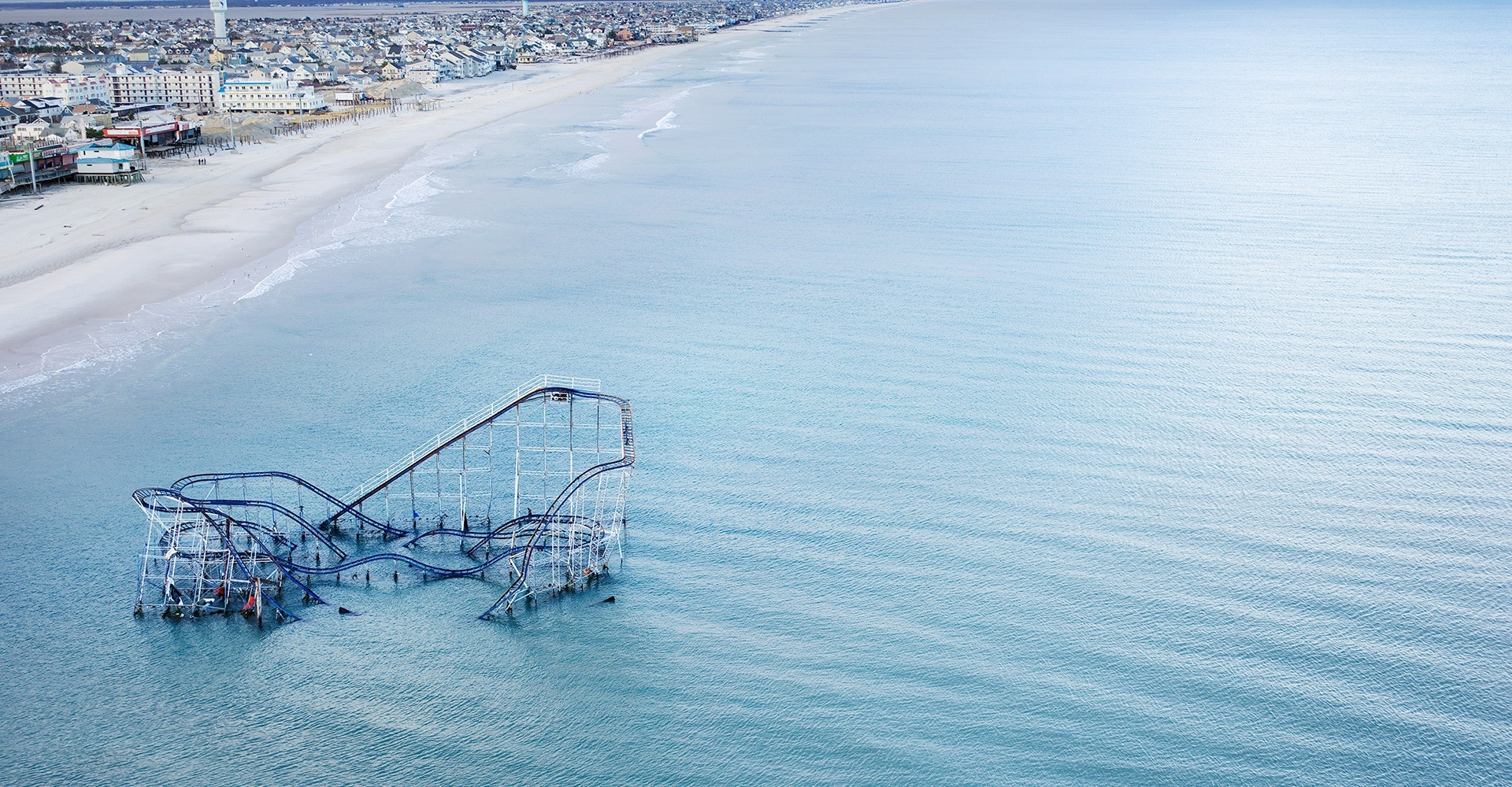 Roller Coaster after Hurricane Sandy - Seaside Heights, New Jersey