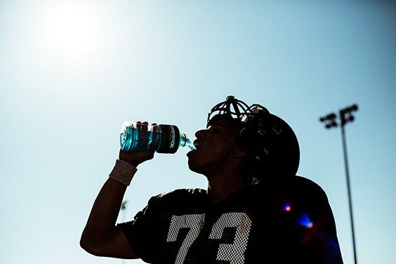 Commercial image: Powerade football