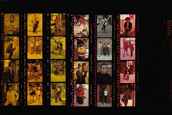 contact sheet,  Brooklyn, 1982